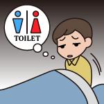 夜中にトイレに起きる回数が多い